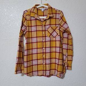Old Navy  Flannel Shirt Red & Yellow NWOT